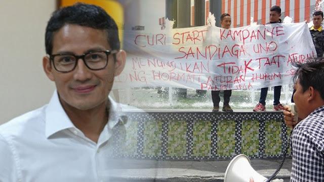 Kedatangan Sandiaga Uno di Kota Medan Mendapat Penolakan