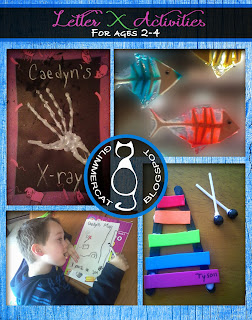 Glimmercat's original Letter X Activities for Ages 2-4 packet
