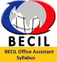 BECIL Office Assistant Syllabus