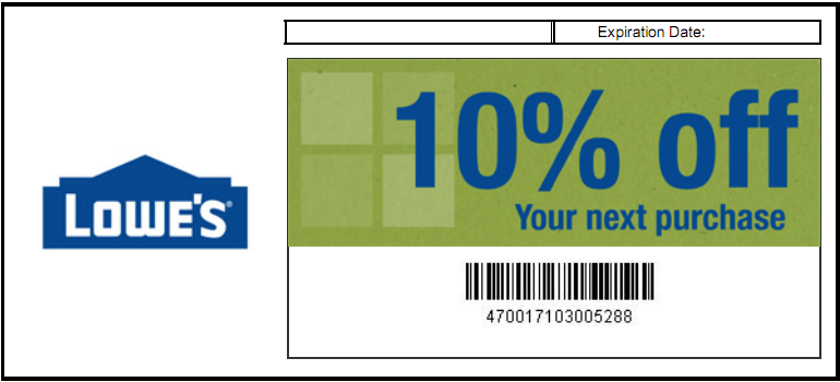 picture regarding Lowes 10% Printable Coupon titled Lowes shifting coupon 2018 : Ninja cafe nyc discount coupons