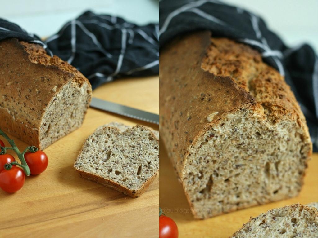 Mittwochs mag ich, Rezept schnelles und einfaches Vollkornbrot, gesundes Brot selber backen, Rezeptsammlung, Chefkoch App, backen