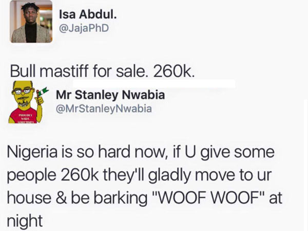Lol. Check out hilarious reply dog seller got from Twitter user
