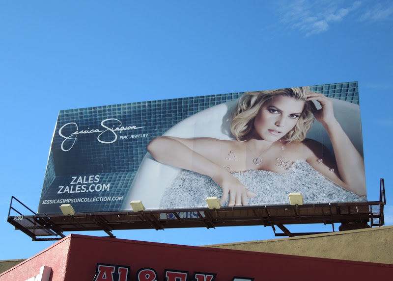 Jessica Simpson Zales Jewelry billboard