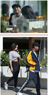 Tyga on a lunch date with New babe