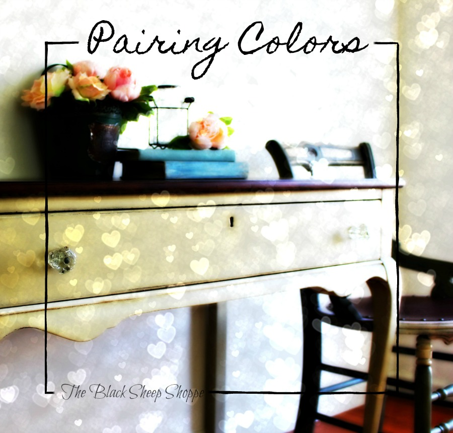 Pairing chalk paint colors together.