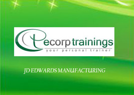 If you want to know more about JD Edwards Manufacturing Training to call +91-8143 111 555 or mail us on training@ecorptrainings.com