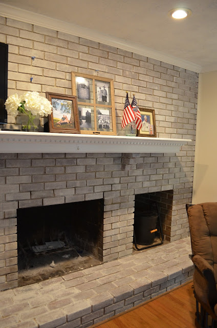Entire wall brick, painting brick in family room