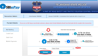 How To Pay Hyderabad Telangana Traffic E-Challan Fines Online