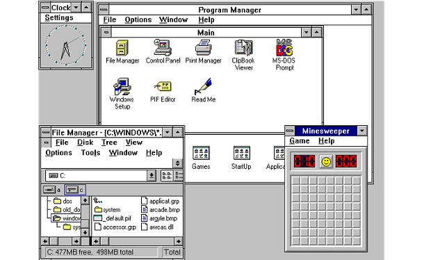 Tampilan Windows 3.1