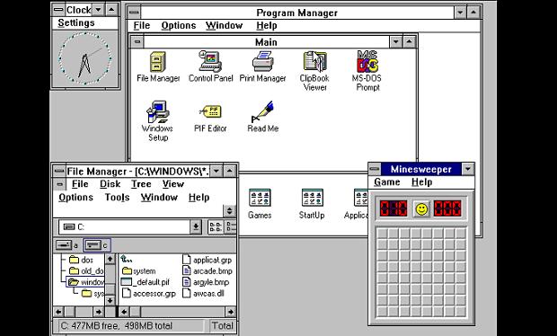 Tampilan Windows 3.1