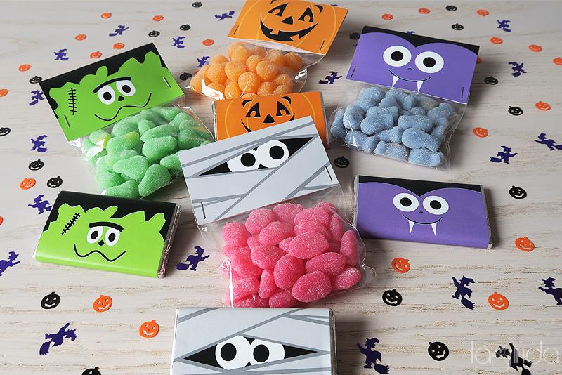 plantillas gratuitas chocolatinas bolsas caramelos halloween