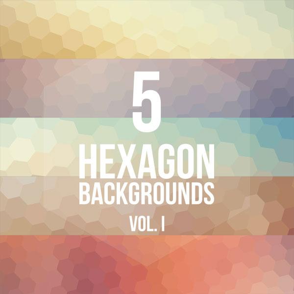 5 Hexagon Backgrounds