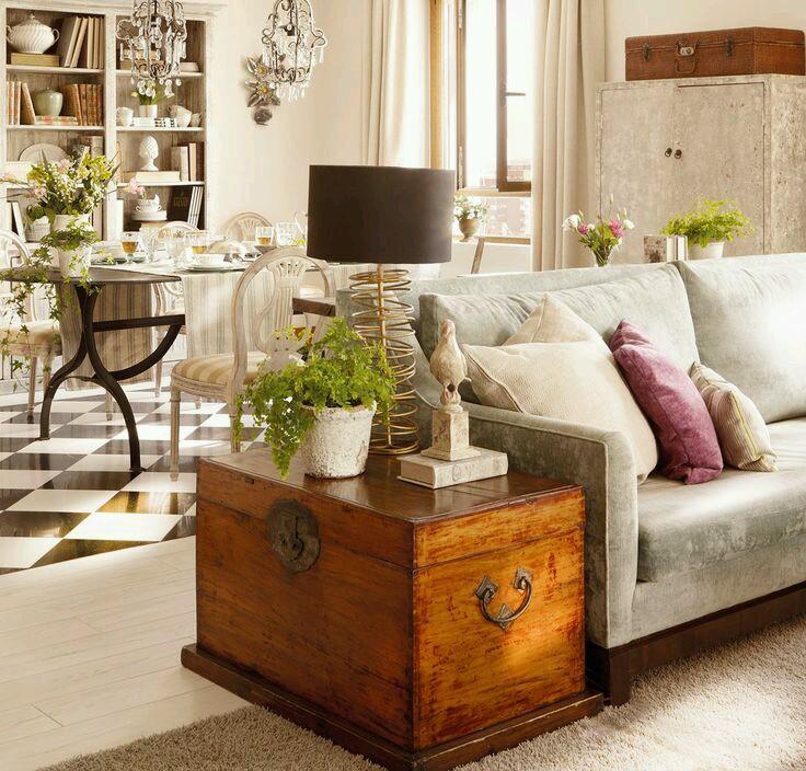 Decorar con arcones o baules muebles con encanto - Decorar baul vintage ...