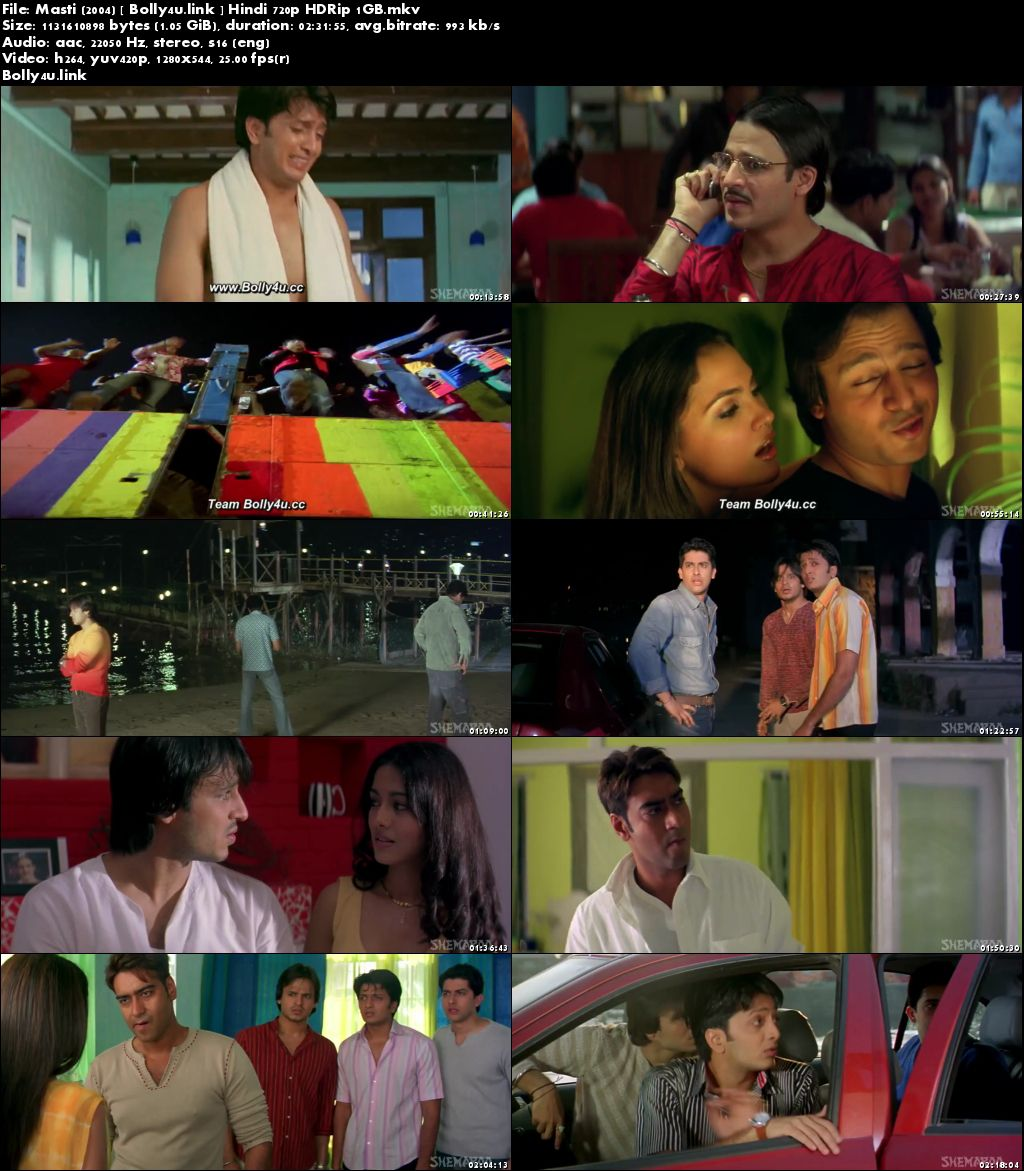 Masti 2004 HDRip 400MB Full Hindi Movie Download 480p