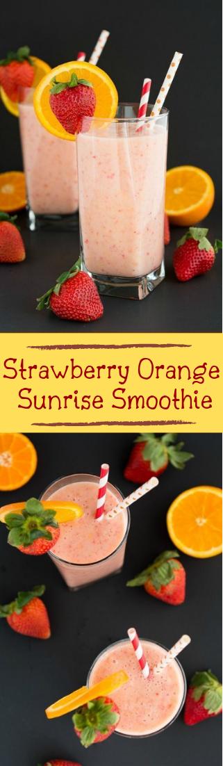 Strawberry Orange Sunrise Smoothie