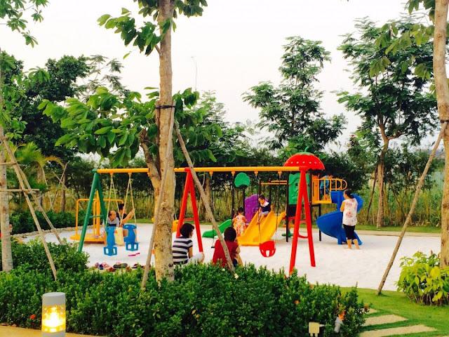 Khu vui chơi trẻ em khu Biệt thự - Nhà phố Park River Side quận 9 HCM
