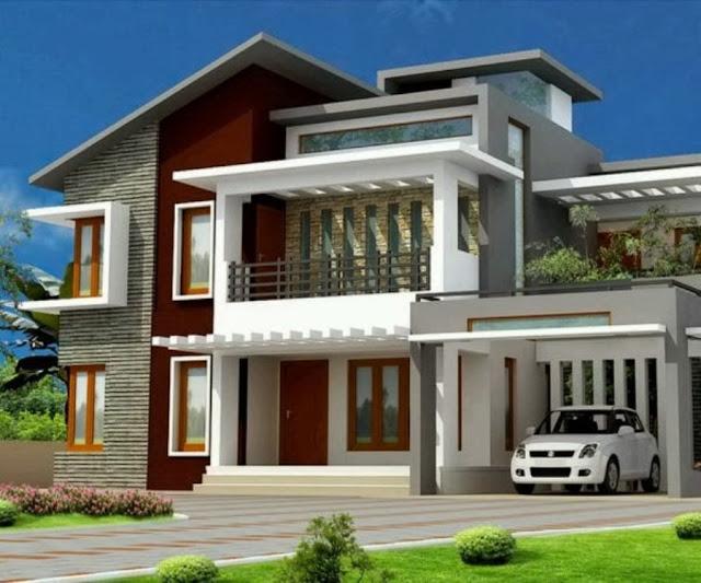 Gambar Denah Rumah Mewah Bertingkat
