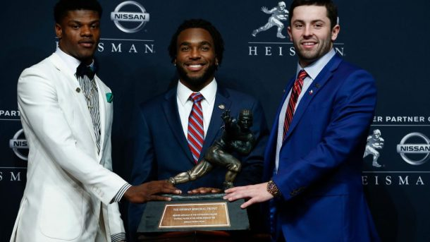 Photos: Oklahoma QB Baker Mayfield wins Heisman Trophy
