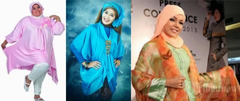 model baju gaun muslim orang gemuk