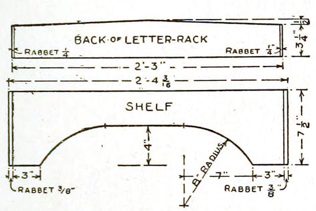 Mission style writing desk plans - How to build a mission writing desk - back of letter rack