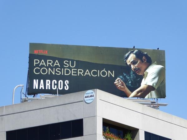 Narcos Para su consideración 2016 Emmy billboard