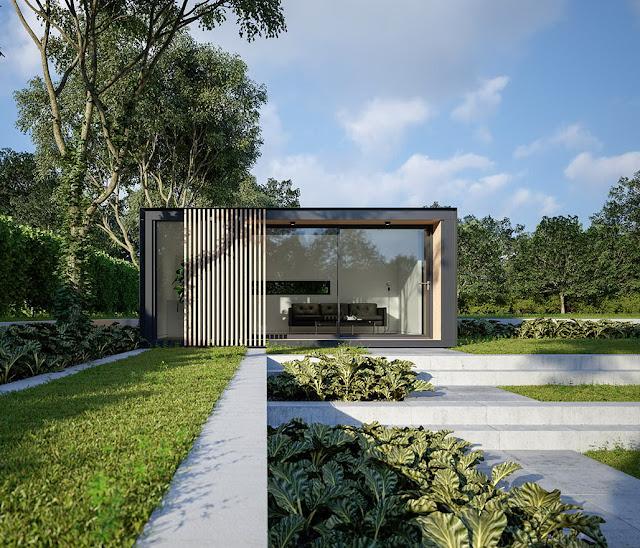tampak depan rumah minimalis modern