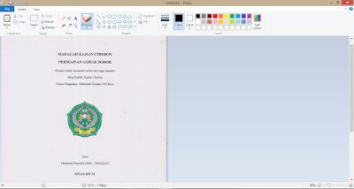 Proses scanning dokumen di paint