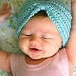 Crocheted Baby Turban Pattern