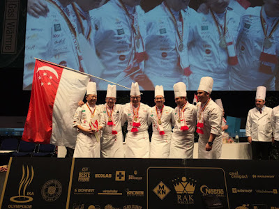 Source: the Singapore National Culinary Team. The Singapore National Culinary Team beat over 30 countries around the world to win the Culinary Olympics 2016 championship title. The team won gold for both the Cold Display and Hot Cooking segments. It is the first time Singapore has won the Culinary Olympics. From left: Teo Yeow Siang, team captain, from Lavish Catering; Triston Fang, team member, from Ocean Restaurant by Cat Cora, Resorts World Sentosa; Alan Wong, team member, from Lavish Catering; team manager Louis Tay from Swissotel Merchant Court; Roy Lim, team member, from Unilever FoodSolutions; and Alex Chong, team member, from The Regent Singapore.