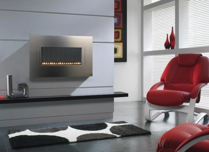 Hogares frescos fabulosas chimeneas minimalistas - Chimeneas de bioetanol de diseno ...