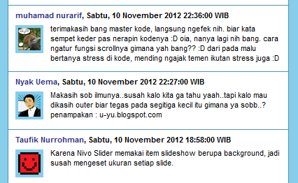 Recent Comment có thông báo số lượng comment mới của Blogspot