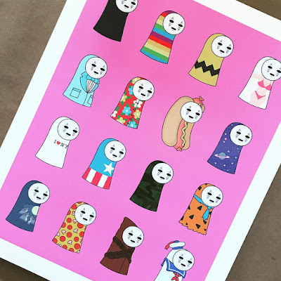 San Diego Comic-Con 2018 Exclusive No Face's Summer Outfits Print