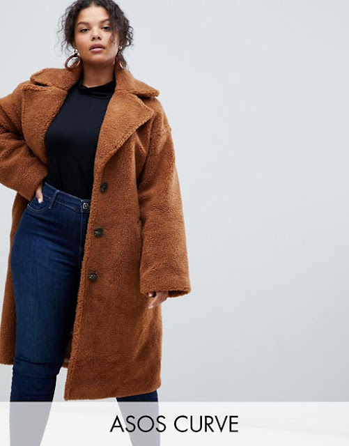 ASOS DESIGN Curve teddy coat €88.49