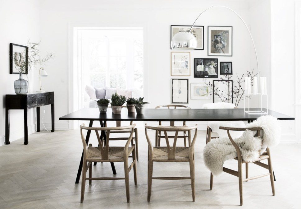 wood wishbone chair, CH24, Hans Wegner