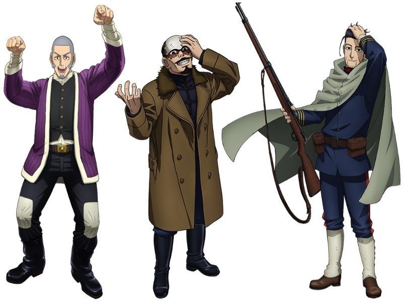 Golden Kamuy anime personajes