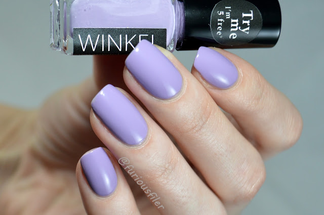 winkel light lavender swatch review #110