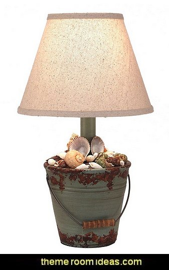 lamp  coastal kitchen decor - beach house kitchen - Coastal kitchen & dining - coastal Christmas kitchen decorations - Cottage Holiday decor - seafood fish shaped kitchen decor - nautical kitchen accessories - Sea Shells cutlery