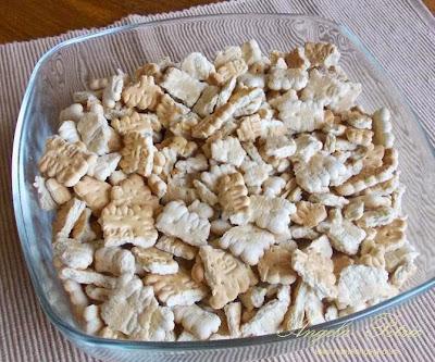 Preparare salam de biscuiti-etap 2