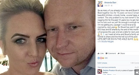 'If You Get 500 Facebook Likes I Will Marry You', Man Tells Mother Of His Kids
