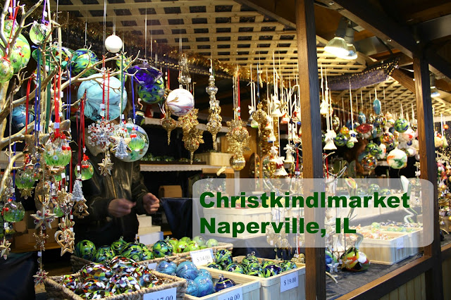 Christkindlmarket in Naperville, IL puts families in the holiday mood with dazzling ornaments, wood creations, ambiance and more!