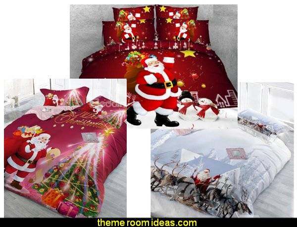 christmas bedding  Christmas decorating ideas - Christmas decor - Christmas decorations - Christmas kitchen decor - santa belly pillows - Santa Suit Duvet covers - Christmas bedding - Christmas pillows - Christmas  bedroom decor  - winter decorating ideas - winter wonderland decorating - Christmas Stockings Holiday decor Santa Claus - decorating for Christmas - 3d Christmas cards