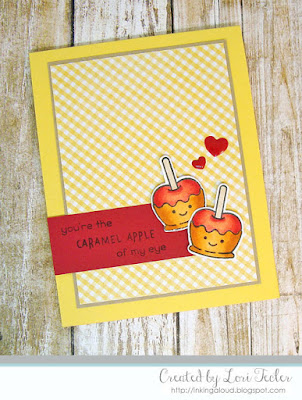 The Caramel Apple of My Eye card-designed by Lori Tecler/Inking Aloud-stamps from Lawn Fawn