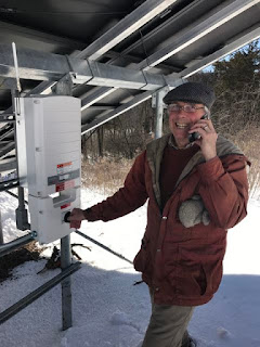 Spicer Art Conservation has gone green and is now running on solar power, turning on the panels was exciting, we began producing our own power almost immediately.
