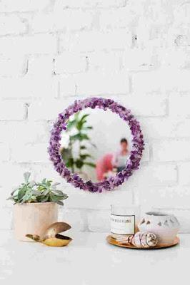 Cermin motif bunga