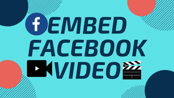 Embed Facebook Video