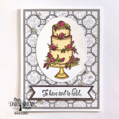 Our Daily Bread Designs Stamp Set: Long Lasting Love, Custom Dies: Scalloped Chain, Ovals, Pennant Flags, Double Stitched Pennant Flags, Paper Collection: Wedding Wishes