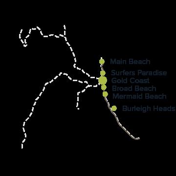 黃金海岸-衝浪者天堂-海灘-推薦-景點-地圖-Gold-Coast-Surfers-Paradise-Beach