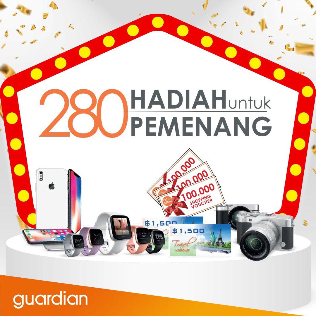 Guardian - Promo Undian Ultah 280 th Hadiah  + Diskon 28% (s.d 24 Okt 2018)