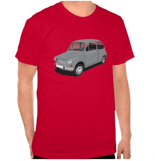 Gray Fiat 600 (seicento)  t-shirt