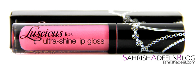Luscious Cosmetics Ultra Shine Lip Gloss in Crush - Review & Swatch